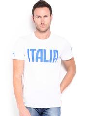 Puma Men White Printed FIGC Italia T-shirt