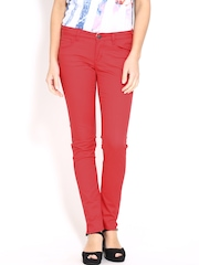 Lee Women Red Amy Slim Fit Trousers