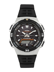 Casio Youth Series Men Black Analogue & Digital Watch