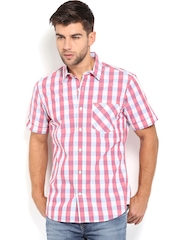 United Colors Of Benetton Men Red & White Checked Shirt