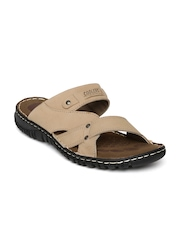 Coolers by Liberty Men Camel Brown Leather Sandals