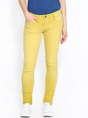 Wrangler Women Yellow Jeggings Ultra-Skinny Fit Jeggings