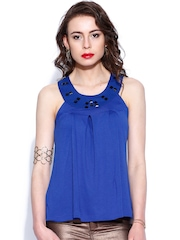 D Muse Blue Embellished Top