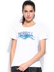Merrell Women White Printed T-shirt