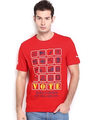 Puma Men Red MTV Rock The Vote Printed T-shirt
