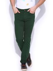 HRX Men Green Trousers