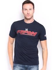 WWE Men Navy Printed T-shirt