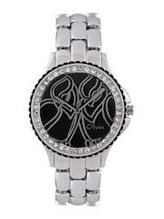 Olvin Women Black Dial Watch 1698 SM03