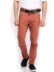 HRX Men Rust Red Chino Trousers