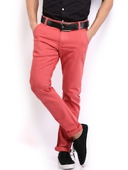 HRX Men Coral Red Chino Trousers