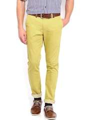 Allen Solly Men Yellow Smart Fit Chino Trousers