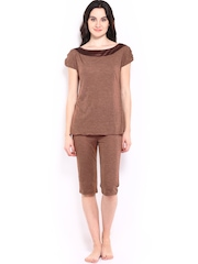 Enamor Women Brown Lounge Set TP58