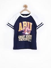 Angry Birds Boys Navy Printed T-shirt