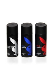 Playboy Men Pack of 3 Deos