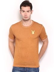 Playboy Men Rust Orange T-shirt