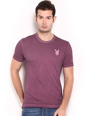 Playboy Men Purple T-shirt