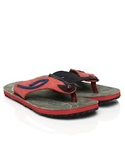 Woodland Trotters Men Red & Navy Sandals