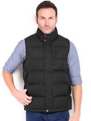 Timberland Men Black Padded Sleeveless Jacket