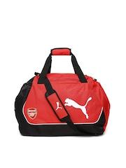 Puma Unisex Red & Black Arsenal Duffle Bag