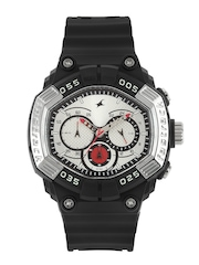 Fastrack Men Chronograph White Dial Watch 38006PP01J