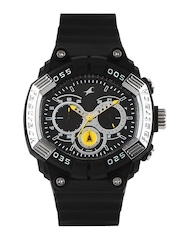 Fastrack Men Chronograph Black Dial Watch 38006PP02J
