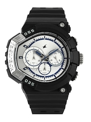Fastrack Men Silver-Toned Dial Watch 38007PP01J