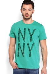 Arrow New York Men Green T-shirt