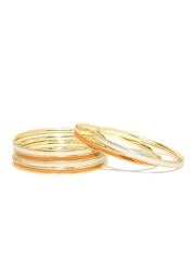 Flaunt Set of 6 Orange & White Bangles