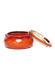 Flaunt Set of 4 Orange & Red Bangles