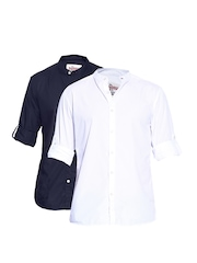 Roadster Men Casual Pack of 2 Shirts