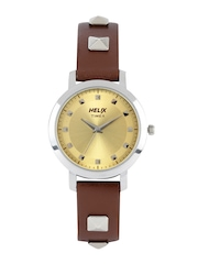 Helix by Timex Women Gold-Toned Dial Watch TI024HL0200