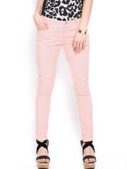 Jealous 21 Women Peach-Coloured Trousers