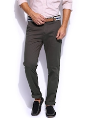 Mast & Harbour Men Taupe Chino Trousers