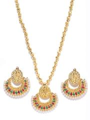Pitaraa Gold-Toned Jewellery Set