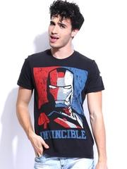 Kook N Keech Marvel Men Charcoal Grey Printed T-shirt