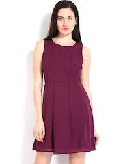 United Colors Of Benetton Purple Fit & Flare Dress