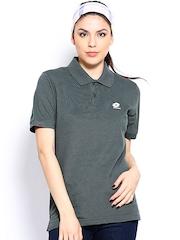 Lotto Women Grey Polo T-shirt