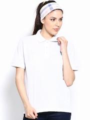 Lotto Women White Polo T-shirt