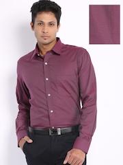 Arrow Men Maroon Premium Formal Fit Shirt