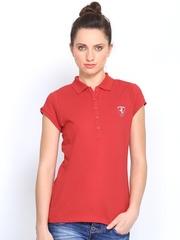 Puma Women Red Ferrari Polo T-shirt
