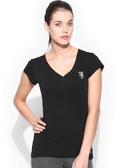 Puma Women Black Ferrari T-shirt