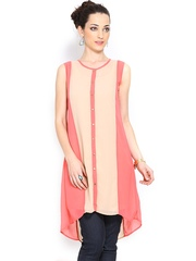 Jealous 21 Women Beige & Pink Tunic