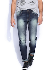 HRX Men Blue Tapered Fit Jeans