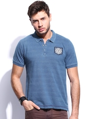 RDSTR Men Blue Polo T-shirt