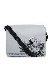 Kook N Keech Marvel Unisex Grey Iron Man Printed Messenger Bag