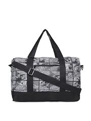 Kook N Keech Unisex Grey & Black Disney Duffle Bag