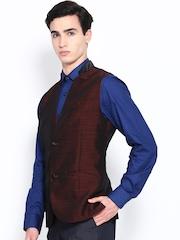 Theme Men Burgundy Waistcoat