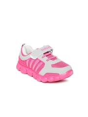 Kids Ville Girls Pink & Grey Casual Shoes