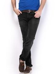 HRX Men Black Indigo Dyed Jeans