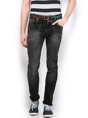 HRX Men Charcoal Grey Indigo Dyed Jeans